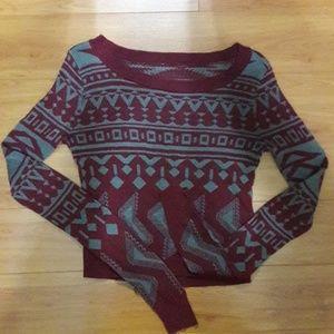 Tops - A long sleeve burgundy swearshirt